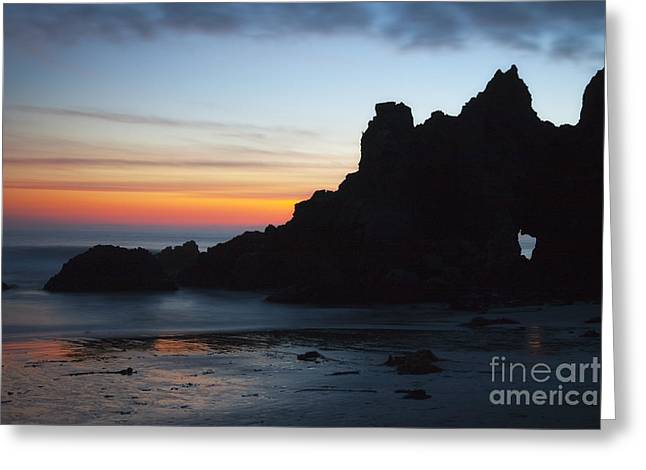 Pfeiffer Beach Greeting Cards - Blowhole - Big Sur Greeting Card by Donald Withers