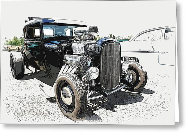 1932-1937 Greeting Cards - Blown Coupe Greeting Card by Steve McKinzie