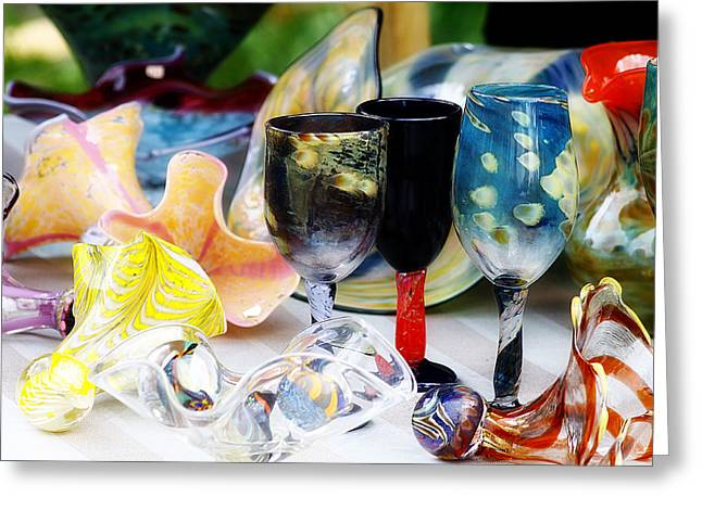 Art Blown Glass Greeting Cards - Blown Glass Greeting Card by Scott Hovind