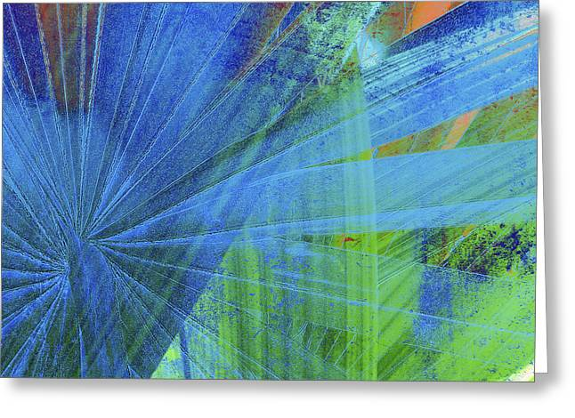 Compositions Mixed Media Greeting Cards - Blue 2 Greeting Card by Kaypee Soh - Printscapes