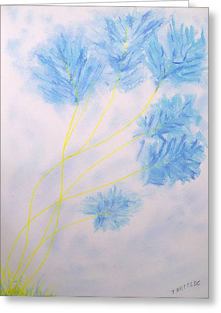 Spring Pastels Greeting Cards - Blue 2 Greeting Card by Tom Nettles