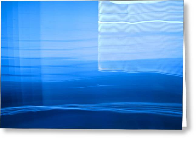 Blue Abstract 1 Greeting Card by Mark Weaver