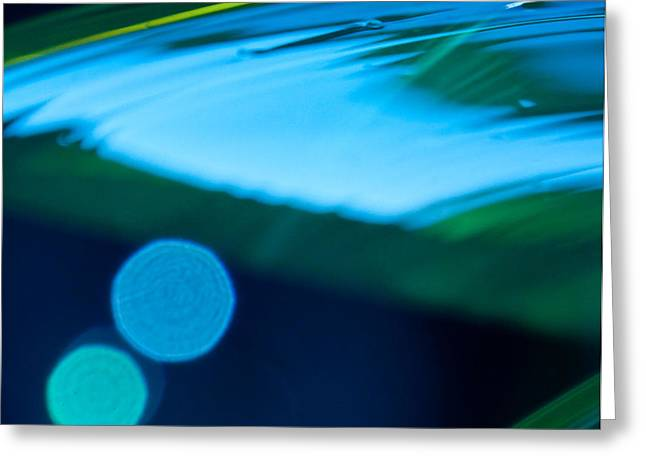 Blue and Green Abstract Greeting Card by Dana Kern
