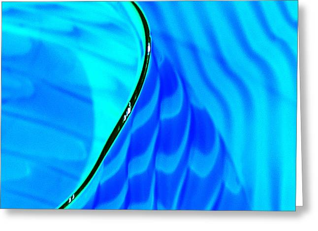 Blue and Green Greeting Card by Artist and Photographer Laura Wrede