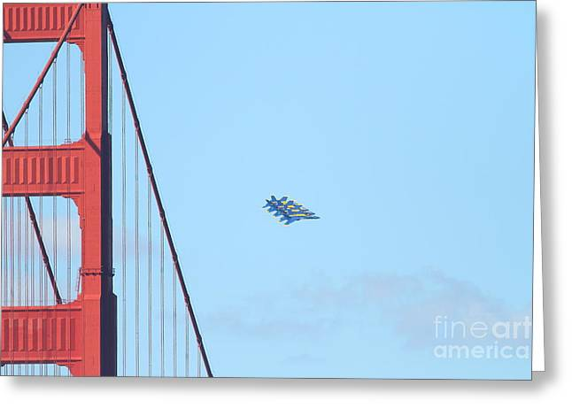 F-18 Greeting Cards - Blue Angels F-18 Super Hornet . 7D8022 Greeting Card by Wingsdomain Art and Photography