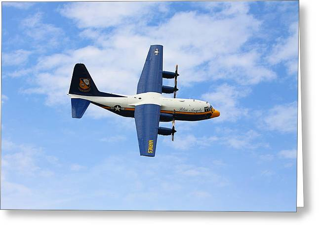 Kevin Schrader Greeting Cards - Blue Angles c130 Greeting Card by Kevin Schrader