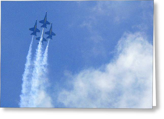Air Plane Greeting Cards - Blue Angles Greeting Card by Mike McGlothlen
