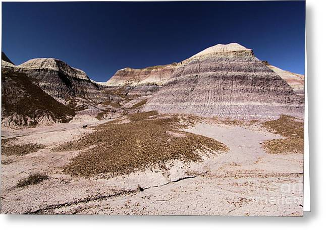Petrified Forest National Park Greeting Cards - Blue Badlands Greeting Card by Adam Jewell