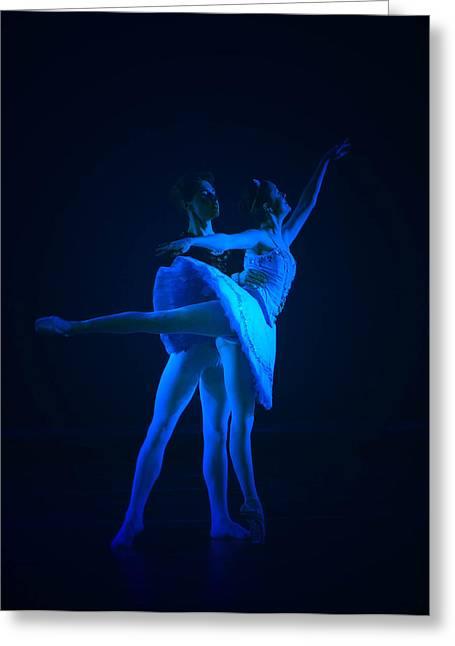 Blue Ballet Greeting Card by Jenn Harris