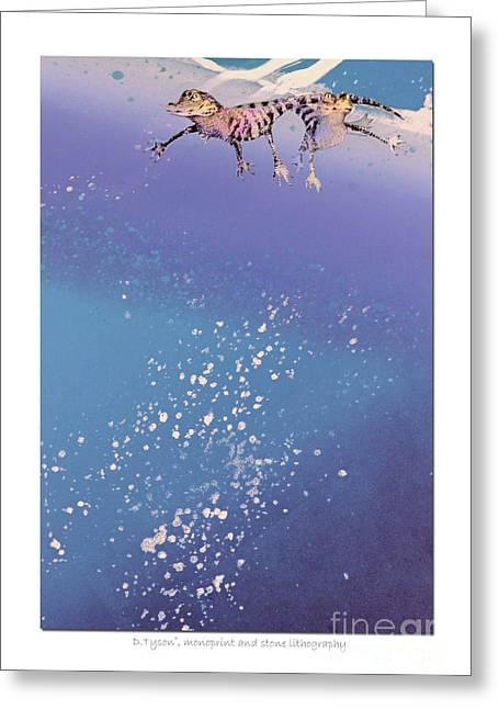 Blue Bayou Greeting Card by Diana  Tyson