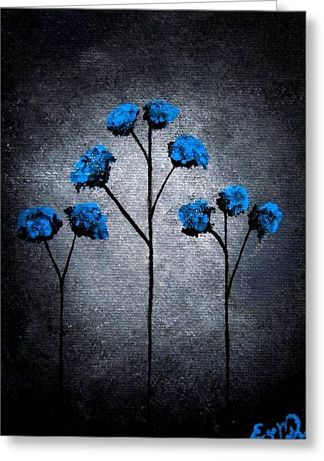 Oddballartco Greeting Cards - Blue Beauties Greeting Card by Oddball Art Co by Lizzy Love