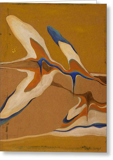 Blue Birds Greeting Card by Devin Roberts