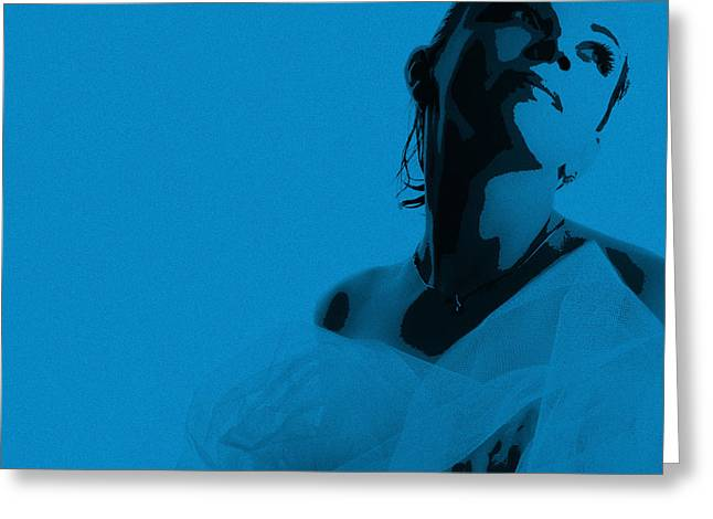 Night Out Greeting Cards - Blue Bride Greeting Card by Naxart Studio