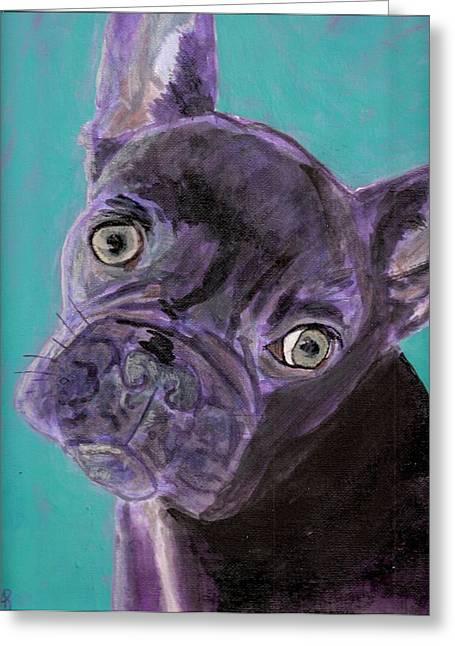Arthur Rice Greeting Cards - Blue Brownie Greeting Card by Arthur Rice