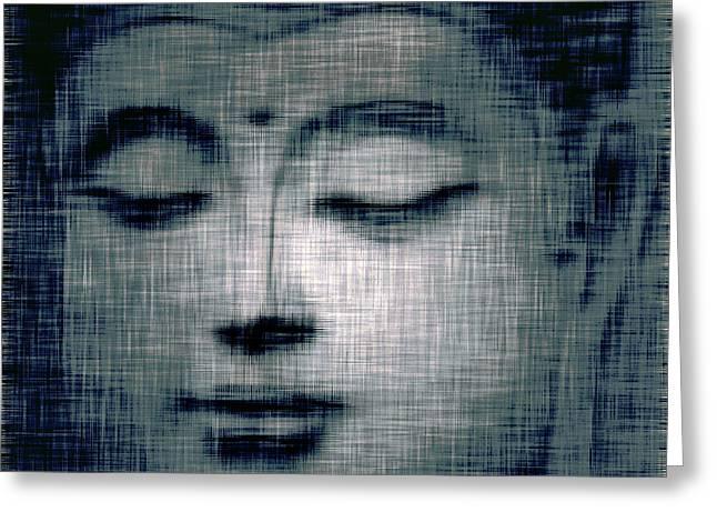 Religious Framed Prints Greeting Cards - Blue Buddha Greeting Card by Jayne Logan Intveld