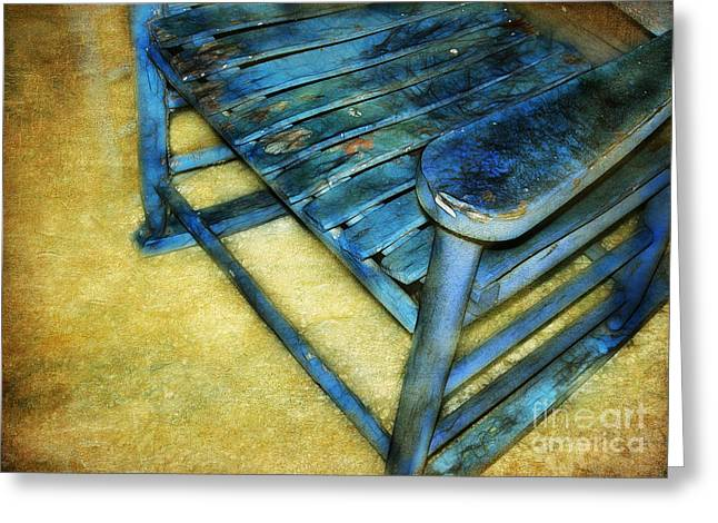 Blue Chair Greeting Card by Judi Bagwell