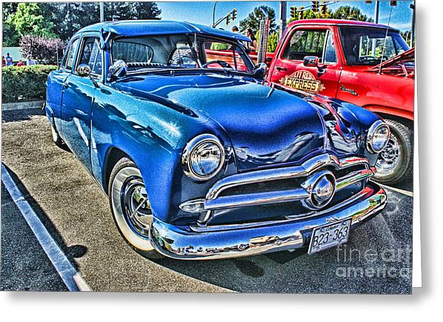 Blue Classic Hdr Greeting Card by Randy Harris