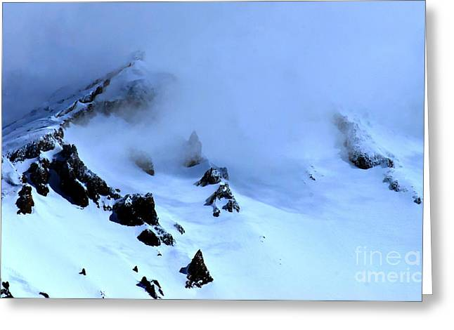 Siskiyou County Greeting Cards - California Mount Shasta Blue Cold Greeting Card by Tap  On Photo