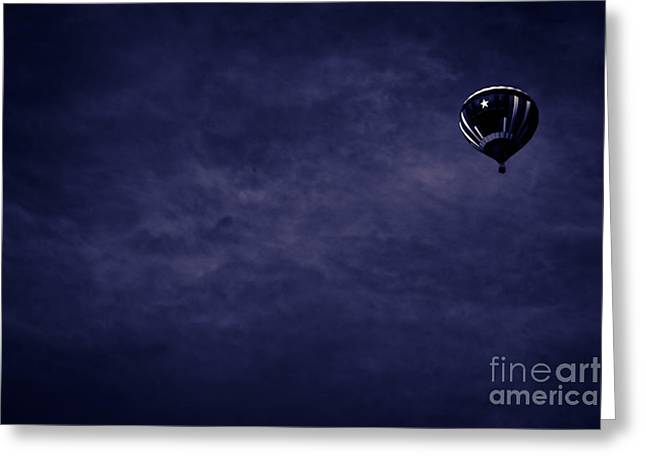 Kim Henderson Greeting Cards - Blue Coming Down Greeting Card by Kim Henderson