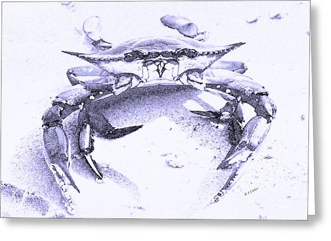 Pinchers Greeting Cards - Blue Crab  Greeting Card by Betsy C  Knapp