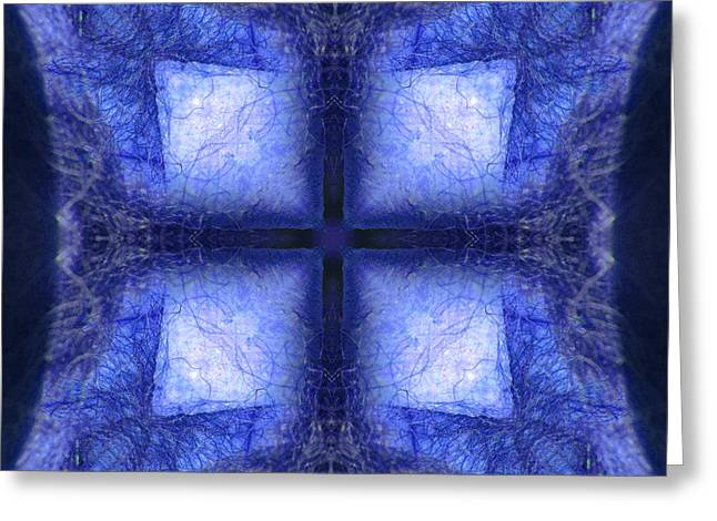Halinar Greeting Cards - Blue Crystal Greeting Card by Joe Halinar