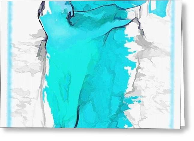 blue dancer Greeting Card by Mary Morawska