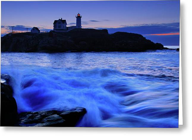 Blue Dawn Greeting Card by Rick Berk