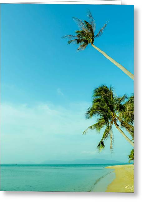 Blue Day Greeting Card by Allan Rufus