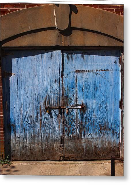Blue Doors Greeting Card by Bob Whitt