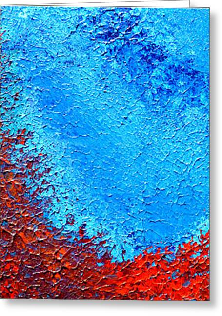 Therapy Reliefs Greeting Cards - Blue Emotions Greeting Card by Inder Sethi