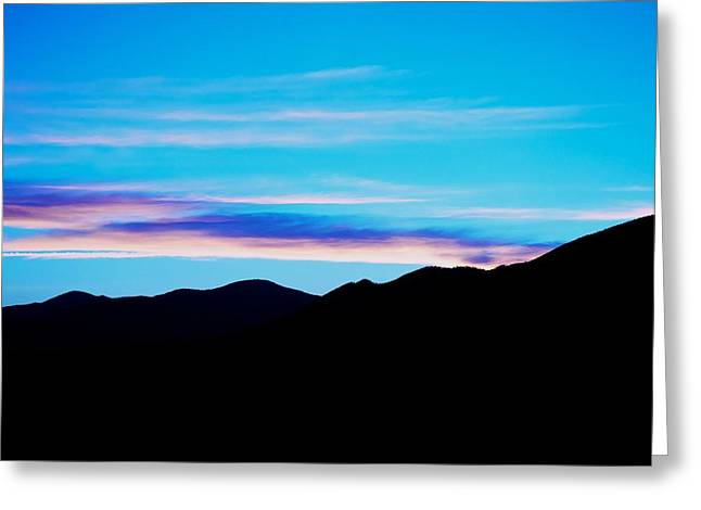 Sunset Posters Greeting Cards - Blue Evening Greeting Card by Kevin Bone