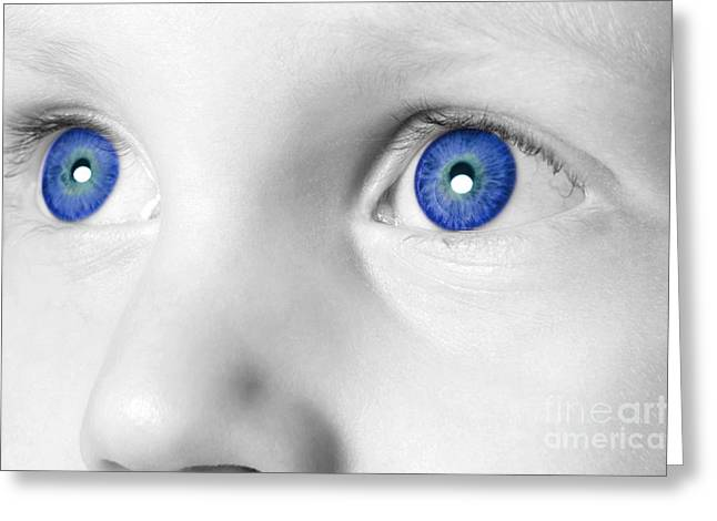 Blue Eyed Boy Greeting Card by Richard Thomas