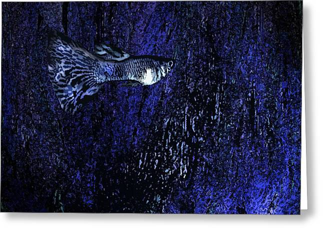 Blue Fish Art Greeting Card by Mario  Perez