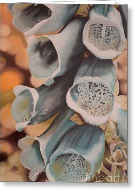 Close Up Floral Pastels Greeting Cards - Blue Foxgloves Greeting Card by Terri Thompson