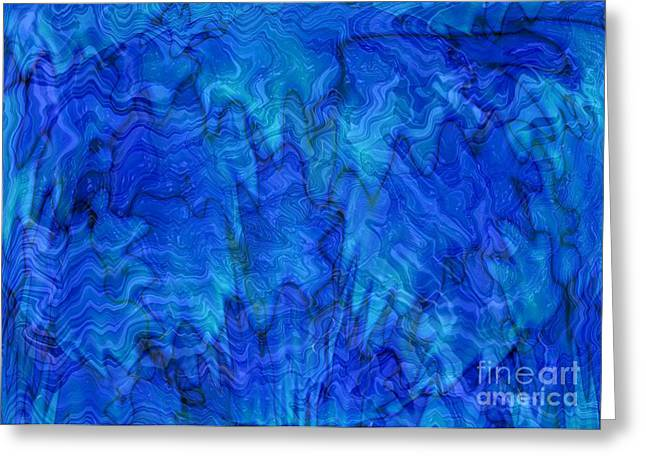 Carol Groenen Abstracts Greeting Cards - Blue Glass - Abstract Art Greeting Card by Carol Groenen