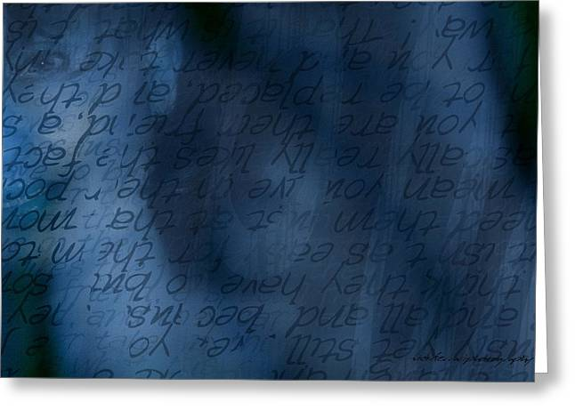 Behind The Scenes Greeting Cards - Blue Glimpse Greeting Card by Vicki Ferrari