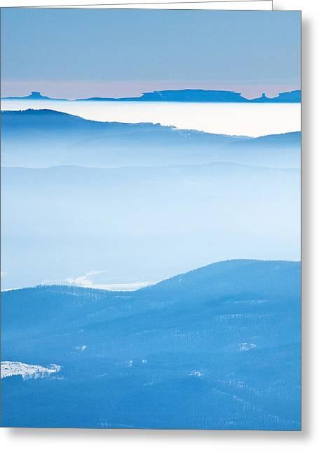 Haze Greeting Cards - Blue Haze Greeting Card by Evgeni Dinev