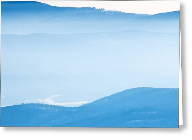 Blue Haze Greeting Card by Evgeni Dinev
