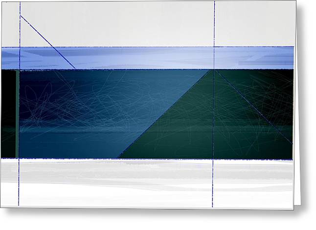 Blue Haze Greeting Card by Naxart Studio