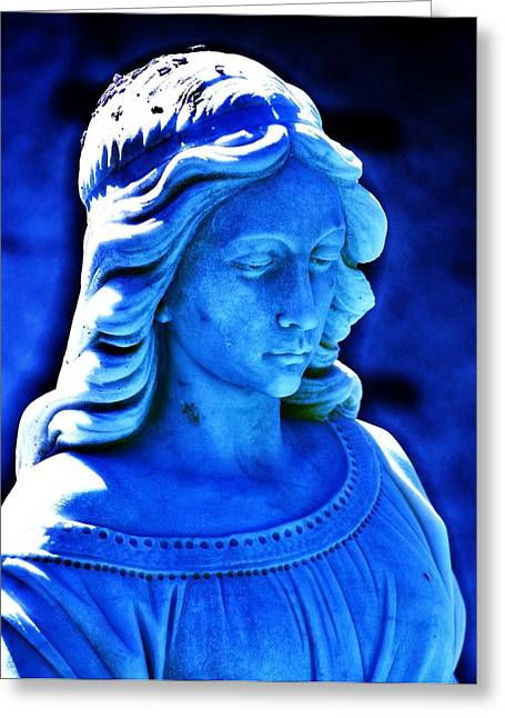 Maiden Greeting Cards - Blue Greeting Card by Helen Carson