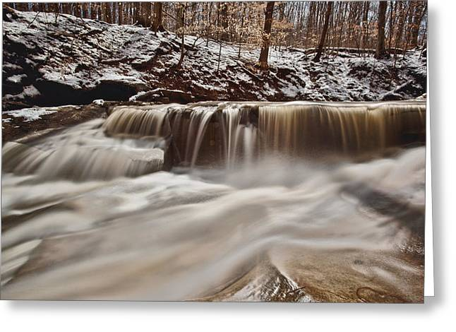 Cvnp Greeting Cards - Blue Hen Falls Cascade Greeting Card by Jennifer Grover