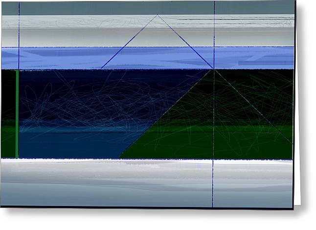 Blue Horizon Greeting Card by Naxart Studio