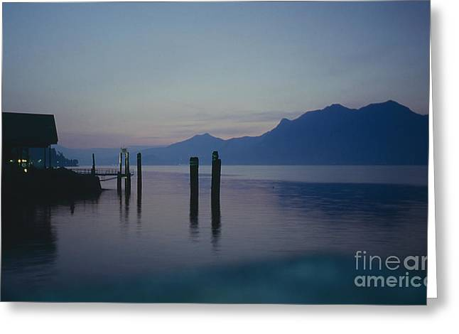 Blue Hour At Dawn On Lago Maggiore Greeting Card by Heiko Koehrer-Wagner