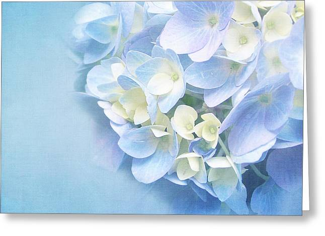Blue Hydrangea Greeting Card by VIAINA Visual Artist