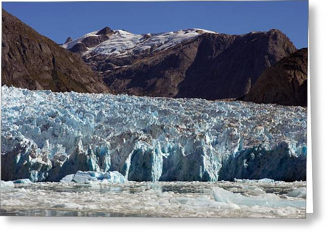 Fissure Greeting Cards - Blue Ice Along Glacier Front, Leconte Greeting Card by Ralph Lee Hopkins