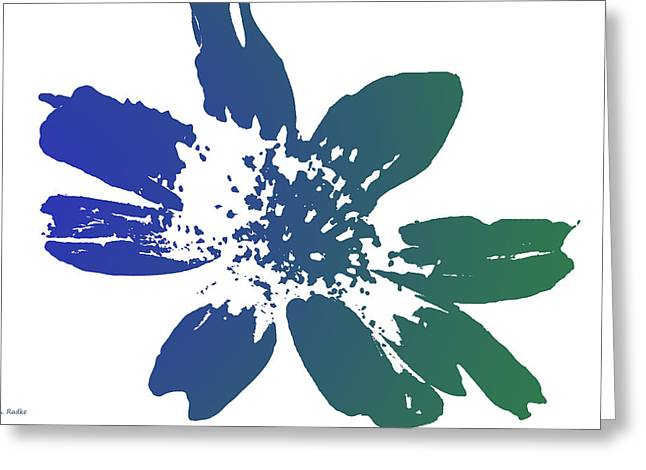 Silk Screen Greeting Cards - Blue in Bloom Greeting Card by Lauren Radke