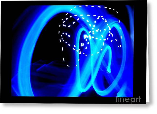 Stir Mixed Media Greeting Cards - Blue Infinity Greeting Card by Mark Bell