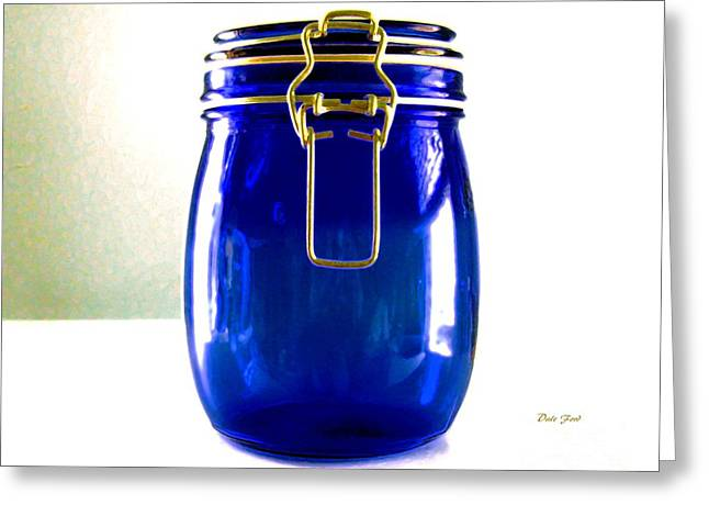 Phot Art Greeting Cards - Blue Jar Greeting Card by Dale   Ford