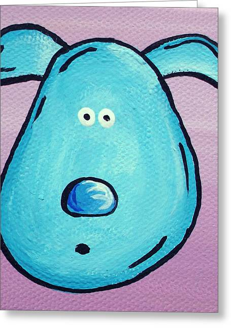 Character Portraits Paintings Greeting Cards - Blue Greeting Card by Jera Sky
