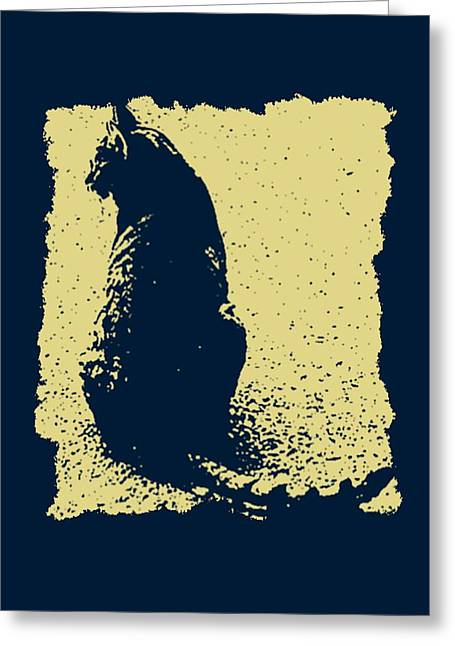 Pet Greeting Cards - Blue Kitty Greeting Card by Tisha McGee